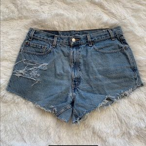 Vintage Levi's Distressed High Waisted Shorts